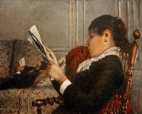 Interieur, Woman Reading.