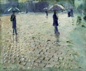 Study for a Paris Street, Rainy Day