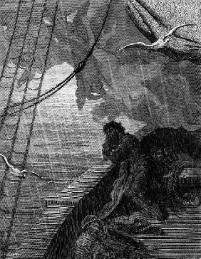 The rain begins to fall, scene from ''The Rime of the Ancient Mariner'' S.T. Coleridge,S.T. Coleridg