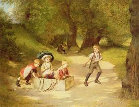 The Toy Carriage, 1887 (oil on canvas)