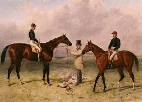 "L to R ""Lord Lyon"", Winner of the Derby, St. Leger and 2,000 guineas; ""Elland"", Winner of Ascot Gold"