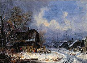 Wintry village