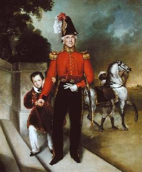 General Sir James Dennis (1778-1855) with his son