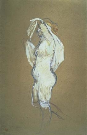 de Toulouse-Lautrec, Henri : Woman Lifting her Shirt