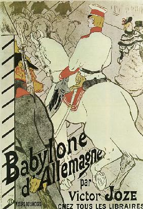 "Poster to the Book ""Babylone d'Allemagne"" by Victor Joze"