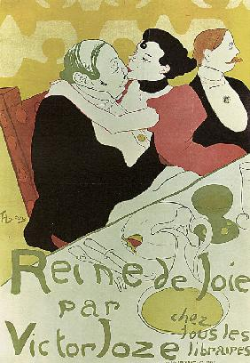"Poster to the Book ""Reine de Joie"" by Victor Joze"