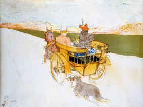de Toulouse-Lautrec, Henri : A Ride in the Country, or ...