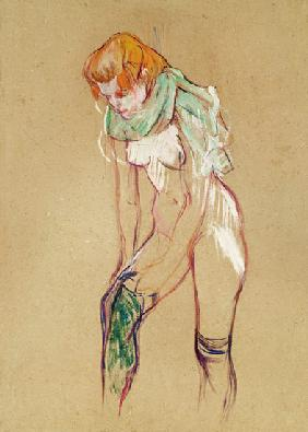 de Toulouse-Lautrec, Henri : Woman at the attracting of...