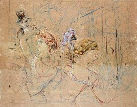 de Toulouse-Lautrec, Henri : Sketch for 'At the Masked ...
