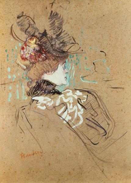 de Toulouse-Lautrec, Henri : DPX/113 Profile of a Woman