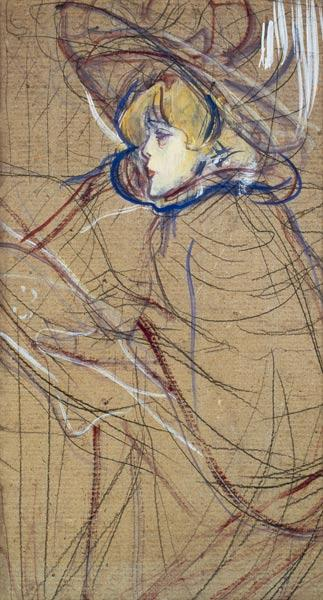 de Toulouse-Lautrec, Henri : Profile of a Woman: Jane A...