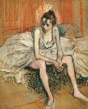 de Toulouse-Lautrec, Henri : Seated Dancer