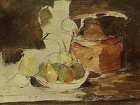 Quiet life with fruit and kettle