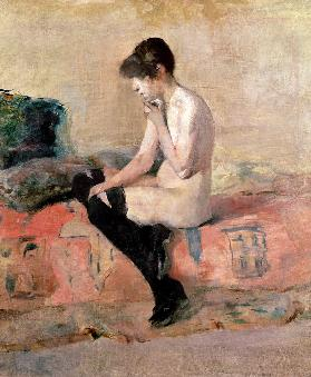Nude Woman Seated on a Divan