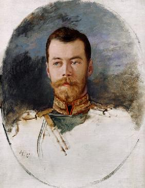 Study for a portrait of Tsar Nicholas II (1868-1918)