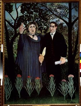 Rousseau, Henri Julien-F�lix : The Poet and his Muse. Por...