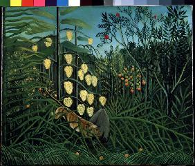Rousseau, Henri Julien-F�lix : In a tropical Forrest. Str...