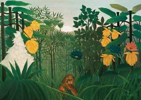 Rousseau, Henri Julien-F�lix : The meal of the lion