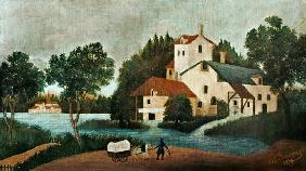 Rousseau, Henri Julien-F�lix : Landscape with water-mill ...