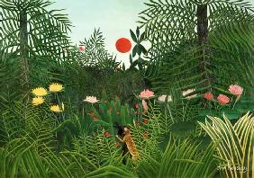 Rousseau, Henri Julien-F�lix : Jungle Sunset