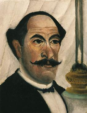 Rousseau, Henri Julien-F�lix : Self-portrait with lamp