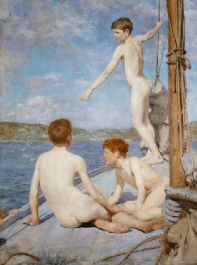 The Bathers, 1889 (oil on canvas)