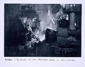 Herbert Ponting - Oates & Meares at the blubber stove in the stables, from ''Scott''s Last Expedition''