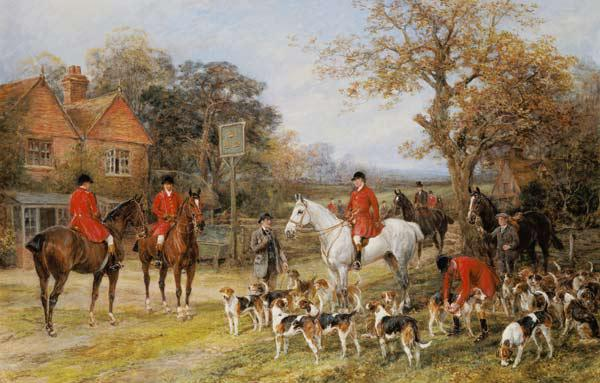Meeting before the fox-hunt.