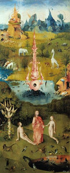 Garden of Earthly Delights - Garden of Eden aka Paradise (left panel)