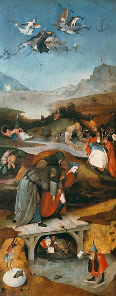 Temptation of St. Anthony (left hand panel)