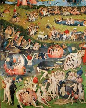 The Garden of Earthly Delights: Allegory of Luxury, detail of the central panel