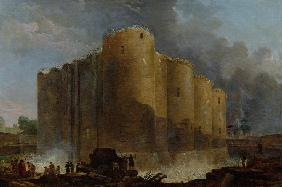 The demolition of the Bastille, July 14, 1789