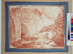 Draughtsman in the Ruins of the Palatine