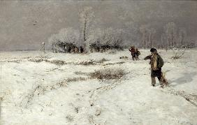 Muhlig, Hugo : Hunting in the Snow