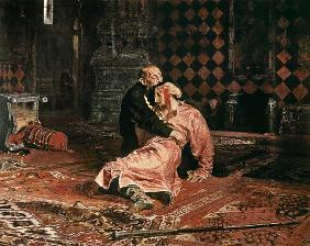 Repin, Ilja Efimowitsch : Tsar Ivan the terrible wit...
