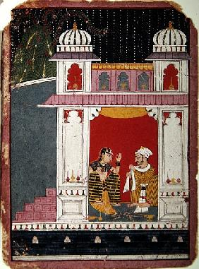 Heroine and her lover in a pavilion, c.1640-50