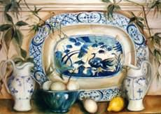 Blue white porcelain
