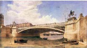 Design for Carlisle Bridge, now O'Connell Bridge, Dublin, attributed to the office of Messrs Turner
