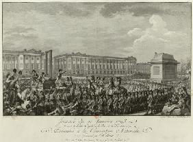 The Execution of Louis XVI in the Place de la Revolution on 21 January 1793