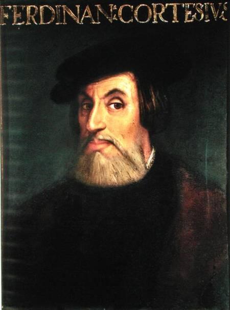 Portrait Of Hernando Cortes 1485 1547 Italian School