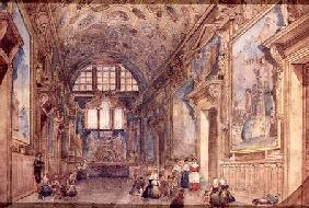 View of an Interior of the Doge's Palace in Venice