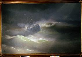 The Ship Empress Maria in the storm
