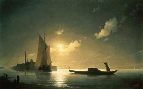 Aiwasowski, Iwan Konstantinowitsch : Gondolier at Sea by Night