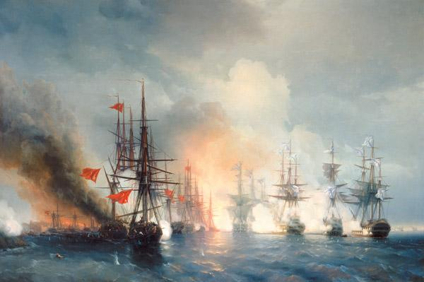 Aiwasowski, Iwan Konstantinowitsch : Russian-Turkish Sea Battle...
