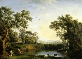 Ideal countryside with Mercury and Paris.