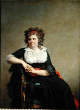 The Marquise d'Orvilliers (1772-1862) (nee Jeanne-Robertine Rilliet) Seated