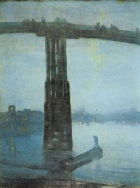 Whistler, James Abbott McNeill : The old Battersea bridge -...