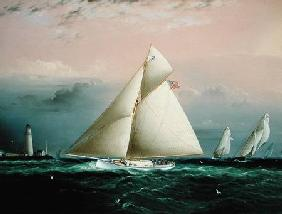 The Cutter Yacht 'Chiquita' in a race off Boston Light
