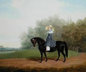 Portrait of a Girl Riding a Horse