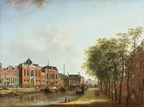 View of the old Houtgracht in Amsterdam.